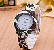 Women's Fashion Watch Quartz Plastic Band Green
