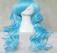 косплей парик очень долгим естественным волнистые парики из синтетических волос анимированные парики партии 4 цвета