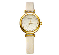 Julius® Wave-like New Arrival Rhiestone Women Leather Belt Watch Waterproof Quartz Schoolgirl Wristwatch JA-875 Cool Watches Unique Watches