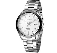Men's fashion leisure steel band watch