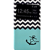 Anchors Painted Voltage Holster PU Material Clamshell Phone Cover for Huawei Ascend P9/P9 Lite