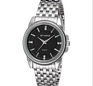 Men's Wrist watch Quartz Japanese Quartz Casual Watch Stainless Steel Band Silver Brand SYNOKE