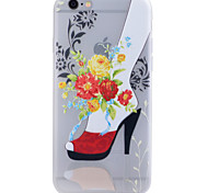 TPU Material Glow in the Dark Translucent Red Shoes Relief Soft Protection Phone Case for iPhone 5/5S/SE