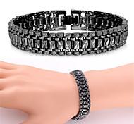 U7® Link Bracelet 18K Real Gold Platinum Plated Simple Chunky Bracelet Bangle Fashion Jewelry
