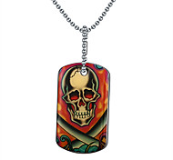 Men's Fashion Skull Printing Steel Pendant for Necklace