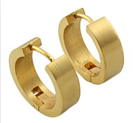 Earring Round Jewelry Women Fashion Party / Daily / Casual Stainless Steel 1 pair Gold