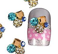10шт площади кристалла вокруг 3d горный хрусталь DIY аксессуары ногтей украшения