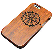 Para Funda iPhone 5 Diseños / En Relieve Funda Cubierta Trasera Funda Fibra de Madera Dura Madera Apple iPhone SE/5s/5