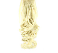 Length  White Gold Wig Ponytail 55CM Synthetic Pearvolume High Temperature Wire Color 613