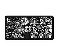 BlueZOO Ebay Blue Rectangle Nail Art Stamping (4)