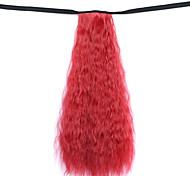 парик красный 50см воды синтетическая высокая температура проволоки горячая кукуруза хвоща цвет 130m