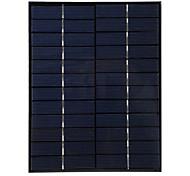 5w 12v de salida del panel solar de silicio policristalino de bricolaje