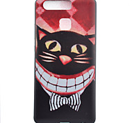 TPU Material Kitty Black Slim Painted Soft cellphone Case for Huawei Ascend P9/P9 Lite