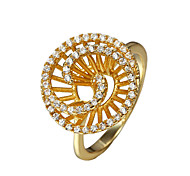 Mother's Day Gift women gold plated party Statement Ring