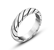 Restoring Ancient Ways Ring Couple Ring Titanium Steel Thin Ring Tail Ring Christmas Gifts
