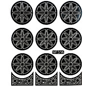Nail Art Template Sticker-(NF314-Black)