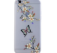 TPU Material Glow in the Dark Translucent Butterfly Relief Soft Protection Phone Case for iPhone 5/5S/SE