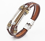 Punk Style Beads Vintage PU Leather Bracelet Leather Bracelets Wrap Bracelets There is a way there is a way Christmas Gifts