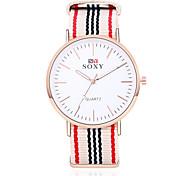 Hombre Reloj Cuarzo Reloj de Moda Cronógrafo PU Banda Reloj de Pulsera