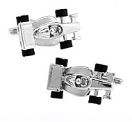 Men's Fashion Racing Car Style Silver Alloy French Shirt Cufflinks (1-Pair)