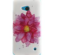 Для Кейс для Nokia С узором Кейс для Задняя крышка Кейс для Цветы Мягкий TPU Nokia Nokia Lumia 630 / Nokia Lumia 530