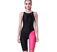 Others Women's Swimwear Breathable  / Removable Cups / Compression One Piece Halter Strings Black Red /