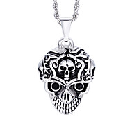 Kalen New Design Jewelry Men's Stainless Steel Skull Pendant Necklace
