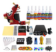 Paperback Single-Color Tattoo Machine Kit Coil Equipment (Handle Color Random Delivery)