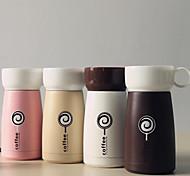 caneca de café tatu tempo copos cor minimalista de aço inoxidável copo 260ml
