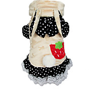 Cat / Dog Costume / Clothes/Jumpsuit Red / Beige Winter / Spring/Fall Animal Cosplay / Halloween, Dog Clothes