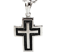 Individual Cross Pendant Necklace Titanium