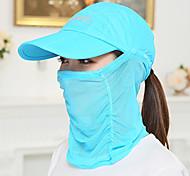 Quick Dry Hat Visor UV Outdoor Korean Lady Sun Cap Folding Face Covering Baseball Cap