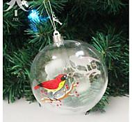 Carnival Christmas Decorations 10Cm Transparent Plastic Ball Snowman Christmas Window Decoration Ball Christmas Ball