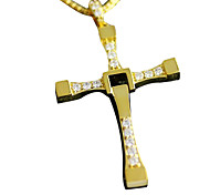 Copper Gold Plated Cross Necklace