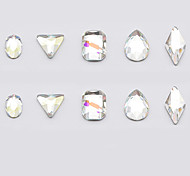 10 Pcs Different Shape Nail Art Rhinestone Big Random Shape