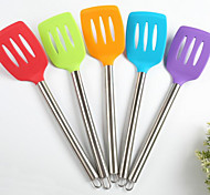 New Environmentally Friendly Silicone Spatula Nonstick Spatula Hollow Handle Stainless Steel Kitchen Appliance 5Pcs