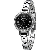 YAQIN® Women's Fashion Mini Dial Silver Steel Quartz Bracelet Watch