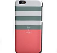 Para Funda iPhone 6 / Funda iPhone 6 Plus Diseños Funda Cubierta Trasera Funda Líneas / Olas Dura Policarbonato AppleiPhone 6s Plus/6