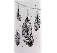 Feathers Pattern Frosted TPU Material Phone Case for Huawei Ascend P9 Lite/P9/P8 Lite/P8