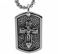 na cruz de jesus marca colar de pingente de titânio