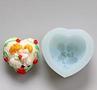 Valentinstag Liebe Kuss Schokolade Silikonformen, Kuchenformen, Seifenformen, Dekoration Werkzeuge bakeware