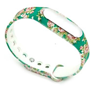 Wristband Bracelet Strap Replacement Parts For Mi band(Rose green)