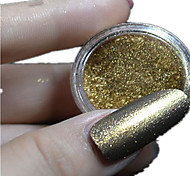 1 Set New Nail Art Magical Dark Gold Glitter Mirror Powder And Eye Shadow Brush Set Nail Beauty #10