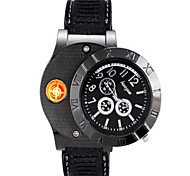 Huayue Watch Design Creative Usb Electronic Cigarette Lighter (Black)