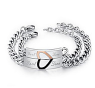 Couple Chain ID Bracelet with Love Letter