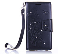 For Samsung Galaxy J710/J510/J310 Luxury Retro Butterfly Diamonds embossed wallet Phone Cover With Stand Card Holder