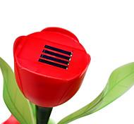tulipán jardín luces solares del jardín de césped llevó luz de noche