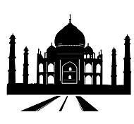 Fashion The Taj Mahal Pattern PVC Bathroom or Bedroom or Glass Wall Sticker Home Decor