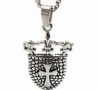 Kreuzschild Titan Stahl Halskette (ohne Kette)