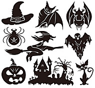 aw9428 Halloween Cartoon Wall Stickers Decorative Wall Stickers,VINYL    Removable Home Decoration Witch Wall Decal